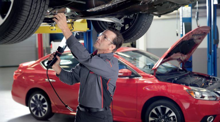 Burlington Nissan Express Service - Under Vehicle Inspection
