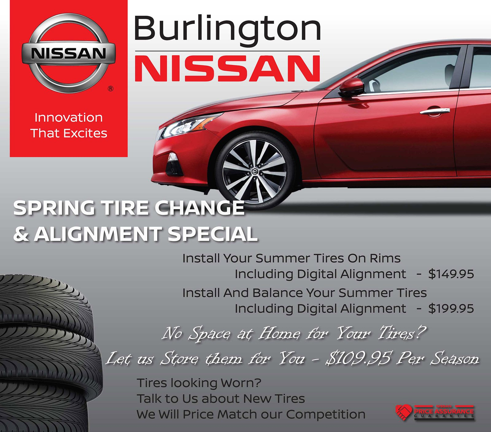 Spring Tire Change & Alignment Special
